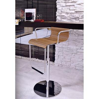 £99 • Buy NEW CALLIGARIS  'VERTIGO'  BAR STOOL  WOOD CHROME Height Adjustable  RRP £360