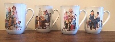 $ CDN12.61 • Buy Vintage Norman Rockwell Coffee Cups Mugs Set Of 4 Museum Collection