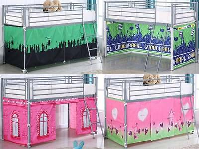 BED TENTS For Metal Wooden Cabin Bed Kids Childrens Beds 100% Cotton Boys Girls • 29.99£