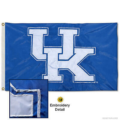 $42.95 • Buy University Of Kentucky Embroidered And Appliqued Nylon Flag