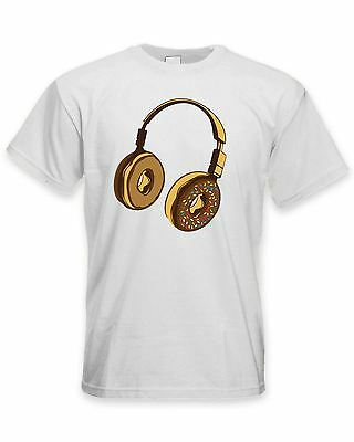 Headphone Donut DJ Men's T-Shirt - Clubbing Vinyl Jungle Drum & Bass • 11.99£
