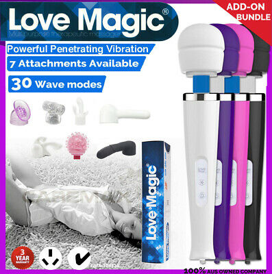 AU36.99 • Buy 30 Modes CORDED Magic Wand Body Personal Massager Vibrator W/ Head ATTACHMENTS