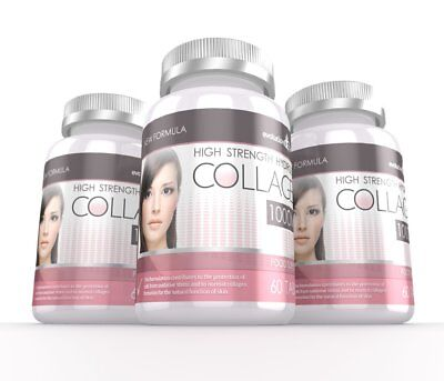 £24.99 • Buy Hydrolysed Collagen High Strength 1000mg For Hair Skin & Nails 180 Tablets