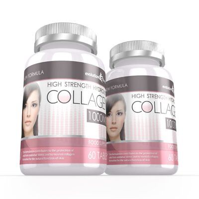 £17.99 • Buy Hydrolysed Collagen High Strength 1000mg For Hair Skin & Nails 120 Tablets