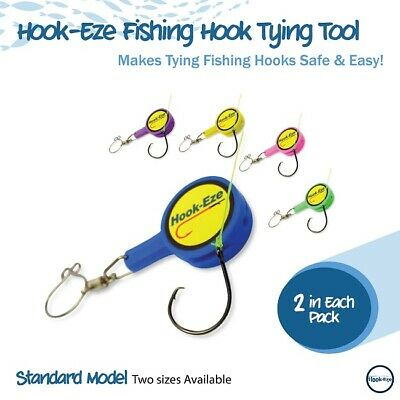 AU14.95 • Buy Hookeze Fishing Knot Tying Tool Fishing Gear - Cover Sharp Hook Tying Tool (LB)