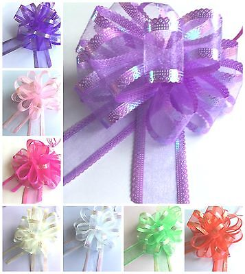 Beautiful Large 50mm Organza Pull Bows Wedding Party Gift Wrap Decoration Craft • 1.95£