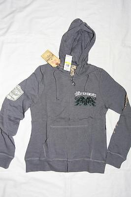 ED HARDY By Christina Audigier Womens Hoodie Jacket Charcoal- Medium • 23.81£