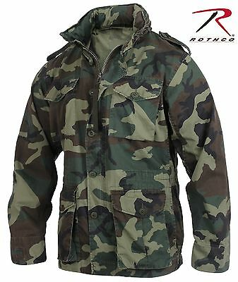 $79.99 • Buy Mens Woodland Camouflage Lightweight M-65 Military Style Field Jacket Coat