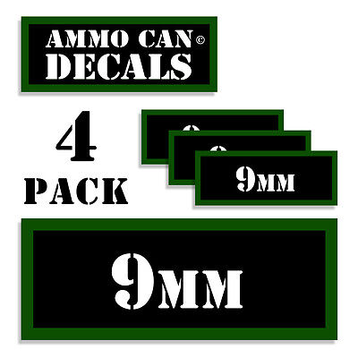 $ CDN4.38 • Buy 9MM Ammo Can 4x 9MM Labels Ammunition Case 3 X1.15  9MM Stickers Decals 4 Pack