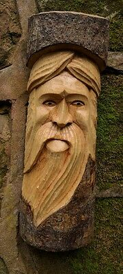 Green Man Of The Woods Hand Carved Wizard Tree Trunk Wood Man  ENT LOTR 30cm D • 13.49£