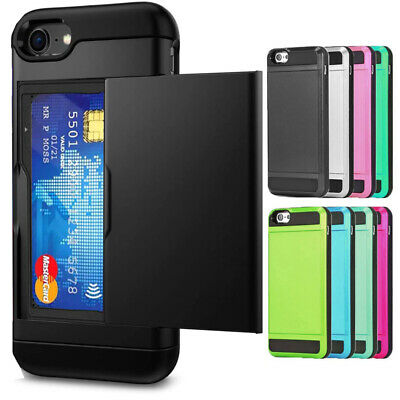 AU7.95 • Buy IPhone 13 12 11 Pro XS MAX XR X 8 7 Plus Slide Card Shockproof Case Cover