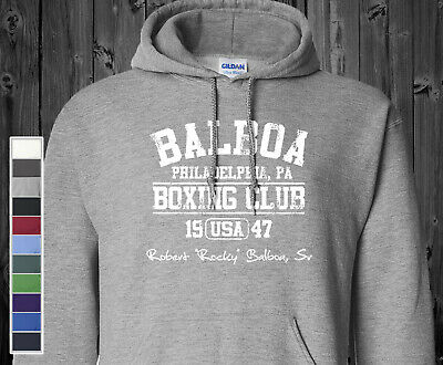 $25.95 • Buy Rocky BALBOA BOXING CLUB Hoodie Sweatshirt Sylvester Stallone Philadelphia Fight