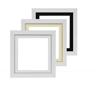 £4.14 • Buy 3D Deep Box Frame Range Picture Photo Frame Display In White, A4 A3 Deep Mount