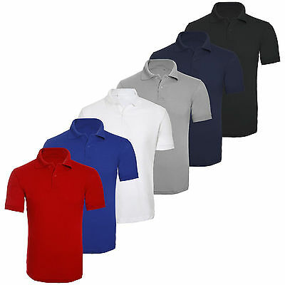 £4.99 • Buy Mens Plain Casual Short Sleeve Polo T Shirt Casual Work Wear Best Quality Top