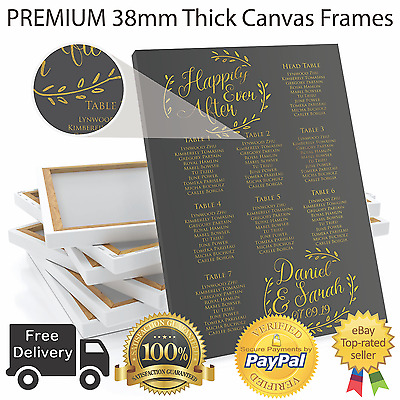 £32.99 • Buy Personalised Wedding Table / Seating Plan Large Format A1 A2 A3 - ANY COLOUR