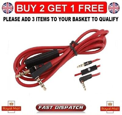 £2.99 • Buy Beats Dr Dre Control Talk Cable Mic-replacement For Solo/studio Headphones Uk