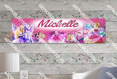 Personalized/Customized Barbie Name Poster Wall Art Decoration Banner • 11.04£