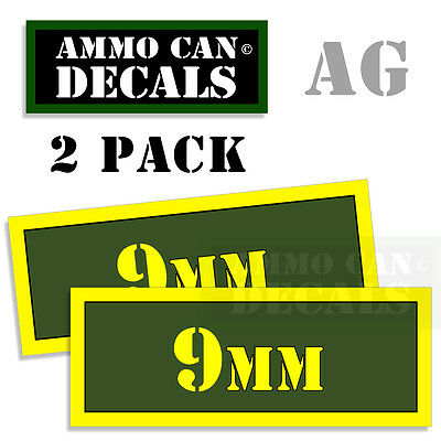 AU2.72 • Buy 9MM Ammo Can Box Decal Sticker Bullet ARMY Gun Safety Hunting 2 Pack AG