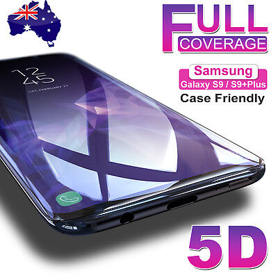 AU6.95 • Buy Samsung Galaxy S9 S8 Plus Note 9 8 5D Full Cover Tempered Glass Screen Protector
