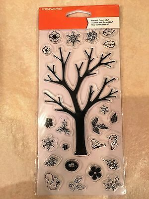 £6.08 • Buy Clear Acrylic Stamp Set By Fiskars Stamps Build-a-Tree Tree 103760-1001 NEW