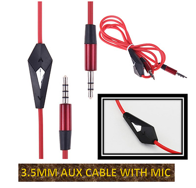 £2.49 • Buy 3.5mm Jack To Jack Male Cable Audio Lead For Headphone AUX MP3 IPod Car With Mic