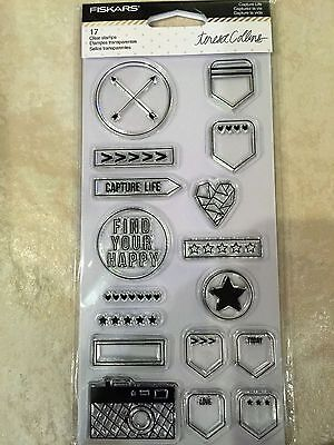 £2 • Buy Clear Acrylic Stamp Set By Fiskars Stamps Capture Life 106010-1001 NEW