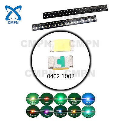 $6.69 • Buy T0402 1005 LED Diodes Warm White Red Blue Yellow Green Orange SMD SMT Chip Light