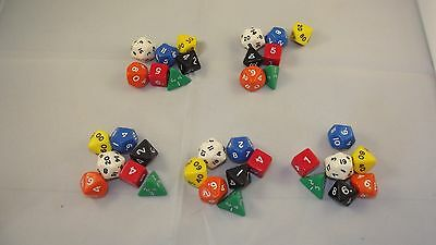 AU29.43 • Buy Opaque Poly Dice 5 X 7 Dice Sets Starter Dungeons Dragons D&D RPG Pathfinder 5e