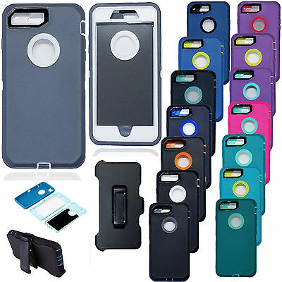 AU14.17 • Buy Armor Case Cover For IPhone X 8 7Plus (Belt Clip Fits Otterbox Defender Series)