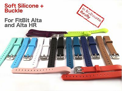 AU4.99 • Buy Silicone Buckle Band For FitBit Alta HR - Replacement For Fit Bit Pedometer