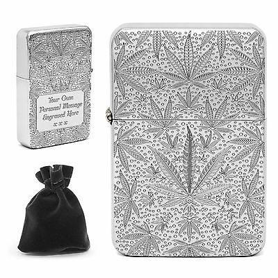 £14.50 • Buy Personalised Engraved Weed Lighter Cannabis Leaf Joint Smokers Birthday Gift