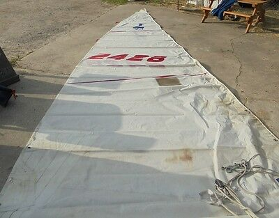 $574 • Buy UK SAIL MAKERS Main Sail  AND BOOM For J-24 In Fair Condition.  29.42' Luff