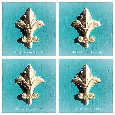 AU20 • Buy 4x Shabby Chic French Furniture Moulding Furniture Applique Carving Onlay
