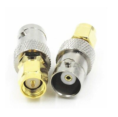AU6.99 • Buy Premium SMA Male To BNC Female Coax Connector Adapter Commercial Grade Tradie