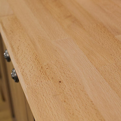Beech Wooden Kitchen Worktops, Oil And Accessories, 40mm Staves, Solid Wood • 14.99£