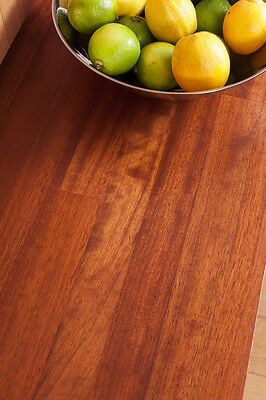 Solid Iroko Wood Timber Worktops, 40mm Staves, Top Grade, 2M 3M 4M Breakfastbars • 45£