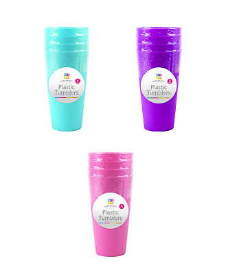 £5.95 • Buy Plastic Drinking Cups Mugs Tumblers Children Kids Party Large BBQ Outdoor Picnic