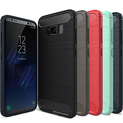 $ CDN7.40 • Buy Samsung Galaxy S8 & S8 Plus Genuine Carbon Fiber Texured Brush TPU Cover Case
