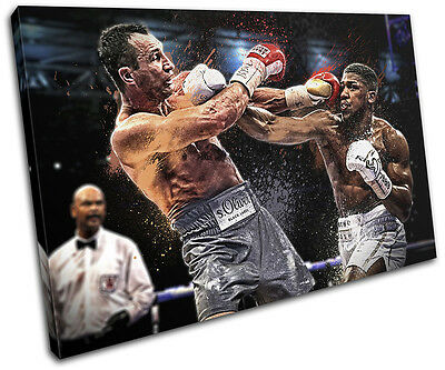 Boxing Joshua Klitschko Grunge Sports SINGLE CANVAS WALL ART Picture Print • 24.99£