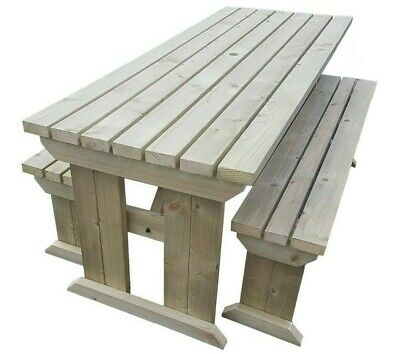 £250 • Buy Picnic Table And Bench Set Wooden Outdoor Garden Furniture, Yews Compact