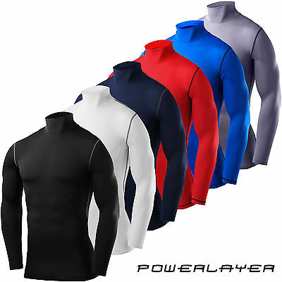 TCA & PowerLayer Compression Base Layer Mens Boys Shirt Mock Neck • 11.99£