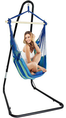 Sorbus® Adjustable Hanging Hammock Chair Swing & Stand, 1 Person, 330 Pound Capa • 75.18£