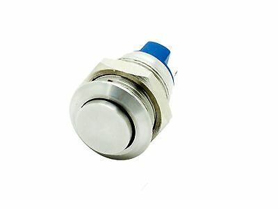 $3.95 • Buy M12E ATI 12mm Anti-Vandal Momentary Stainless Steel PushButton Switch Raised Top