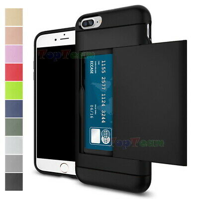 AU5.99 • Buy Slim Armor Shockproof Card Pocket Holder Wallet Case Cover For IPhone & Samsung