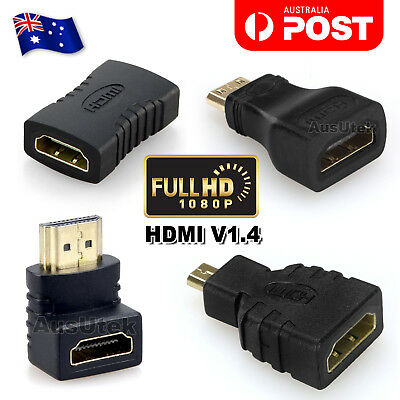 AU3.95 • Buy Micro Mini HDMI Male To HDMI Female Adapter Converter Connector For Tablet PC TV