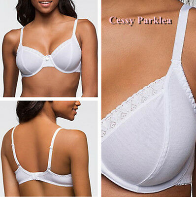 AU12.80 • Buy Germany Bpc  Cotton Non-Padded Lace Trim Wired Full Coverage Bras White Red Pink
