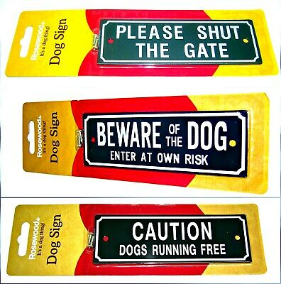 £3.90 • Buy Dog Warning Signs BEWARE OF THE DOG -PLEASE SHUT THE GATE Screws Included Plaque