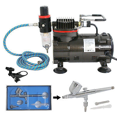 $48.99 • Buy AIRBRUSH SET & AIR COMPRESSOR 0.3 Master DUAL ACTION KIT Paint Hobby Cake Tattoo