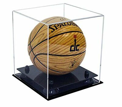 Collectible Clear MINI-Miniature Basketball Display Case-Black Risers (A015-BR) • 40.79$