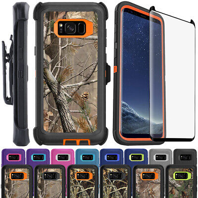AU8.95 • Buy Samsung S8 Plus Defender Case Cover +Belt Clip +Tempered Glass Screen Protector